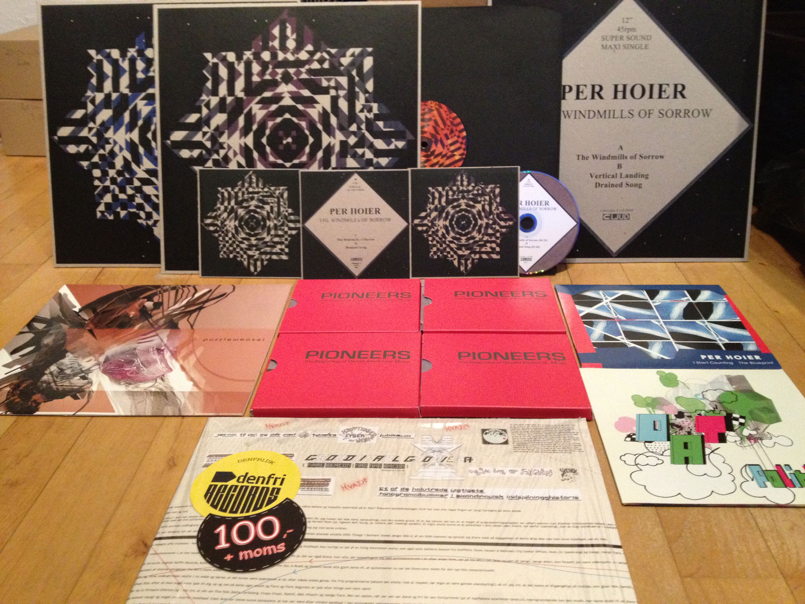 The LJUD Records catalogue 2004-2011 - only two missing.